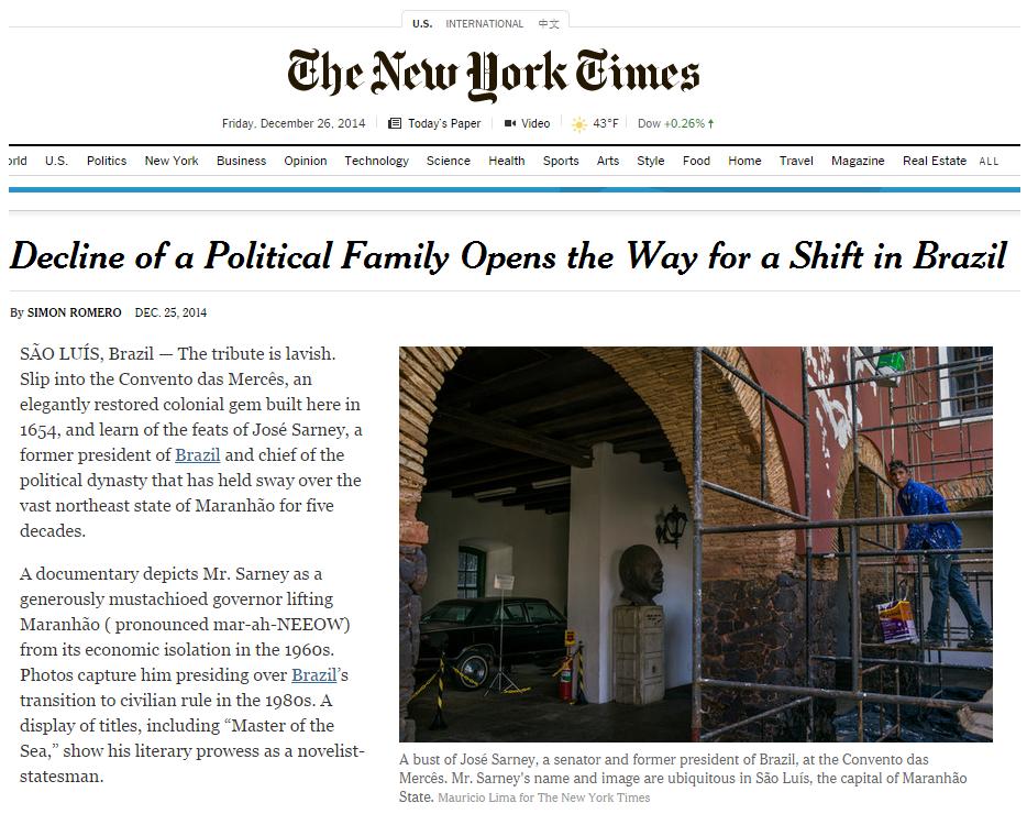 Publicação do New York Times