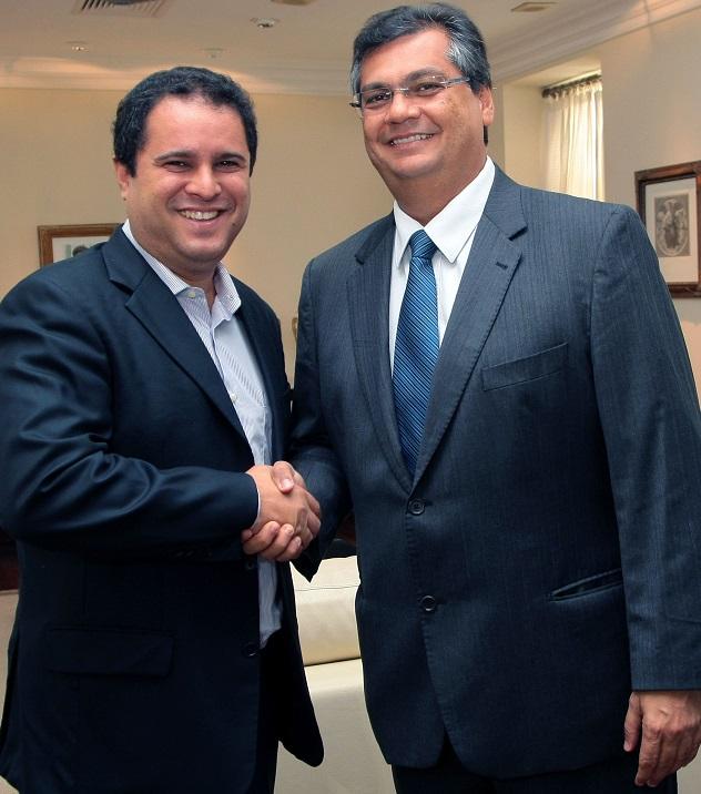 Prefeito Edivaldo e governador Flávio Dino têm primeira reunião oficial em 2015 para definição de parcerias prioritárias.