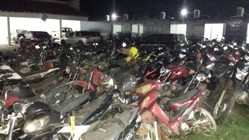 Quase cem motos foram apreendidas em Balsas