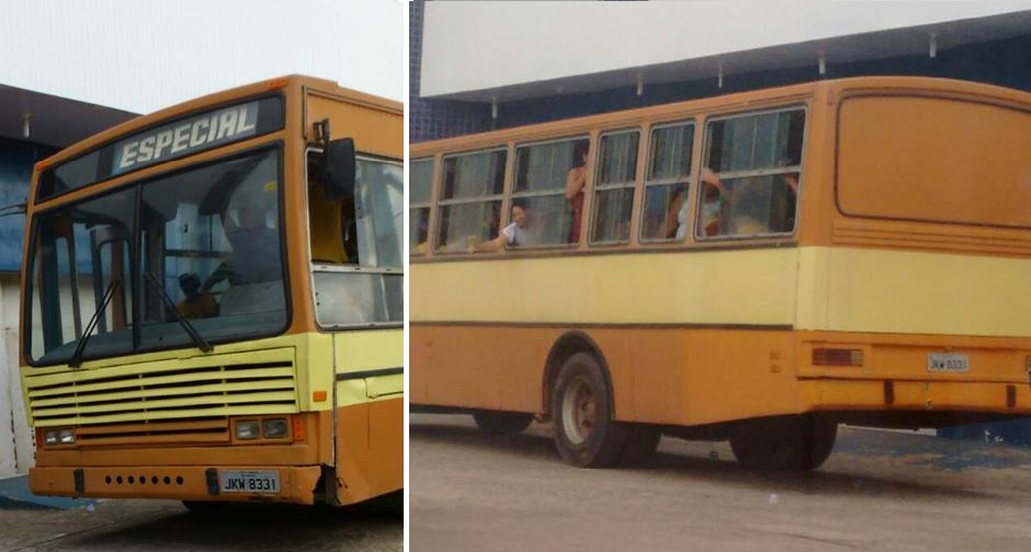 Ônibus pertencente a empresa que possuía contrato com a gestão do ex-prefeito transportou os ex-funcionários da Prefeitura até o TRE.
