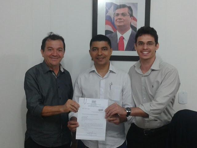 Prefeito Miltinho Aragao, secretário Bira do Pindaré e o advogado Ivo Rezende