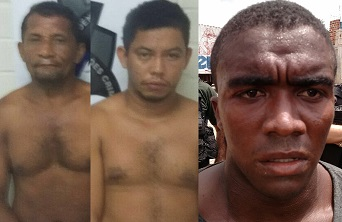 Assaltantes presos