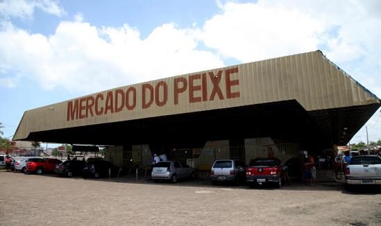 Mercado do Peixe que está em situação precária.