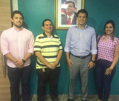 O prefeito de Turilândia, Alberto Magno (PCdoB), acompanhado de sua filha, Tanya Mendes, juntamente com o Sec adjunto da SASSE, Anderson Lindoso e a Sec adjunta da SAGRE Rosyjane de Paula., participou nes