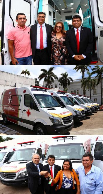 Governo entrega mais nove ambulâncias para fortalecer os sistemas municipais de saúde