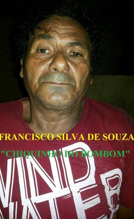 Chiquinho do Bombom foi preso por estupro de vuneravé