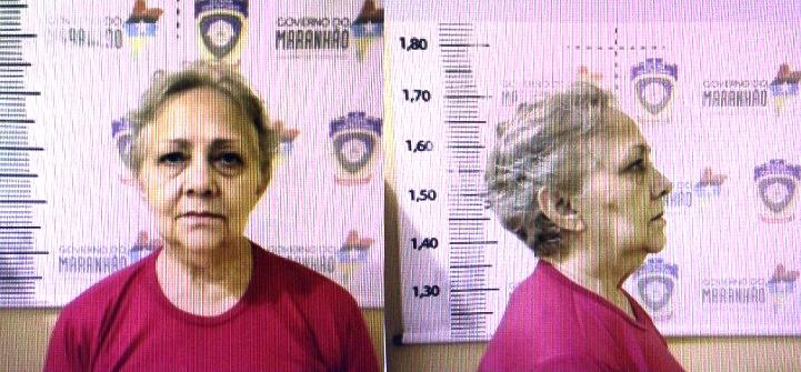 Bia Venância já devidamente fardada como detenta da Penitenciária de Pedrinhas.