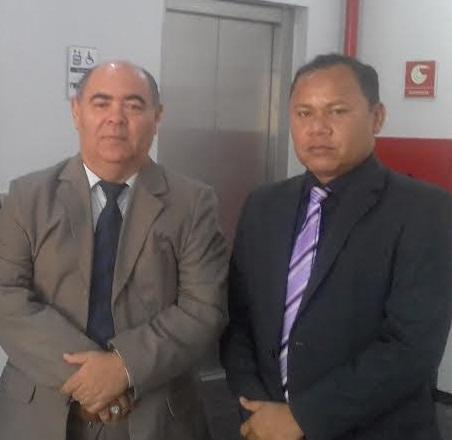 presidentes da Câmaras Municipal de São Luís e Raposa, Astro de Ogum (PR) e Beka Rodrigues (PCdoB),
