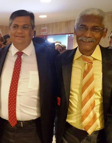 Governador Flávio Dino e o prefeito Domingos Dutra durante o evento no La Rocque, nesta manhã...