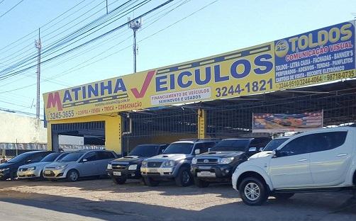 concessionária de carros seminovos Matinha Veículos – situada no bairro da Cohap – próximo ao Pop Center.
