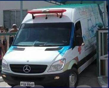 AmbulânciaSprinter,MercedesBenz, de placa PSB 8848, no município.