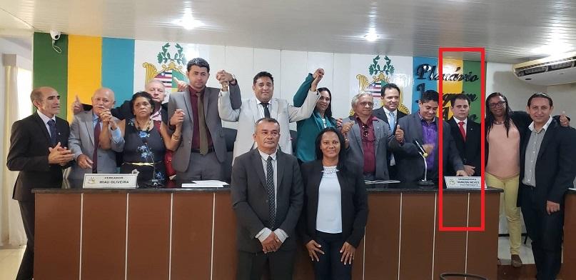 Na primeira eleição Marinho venceu, mas seu concorrente, Fernando Muniz (em destaque) recorreu no TJ-MA e conseguiu decisão liminar para realização desta nova disputa...