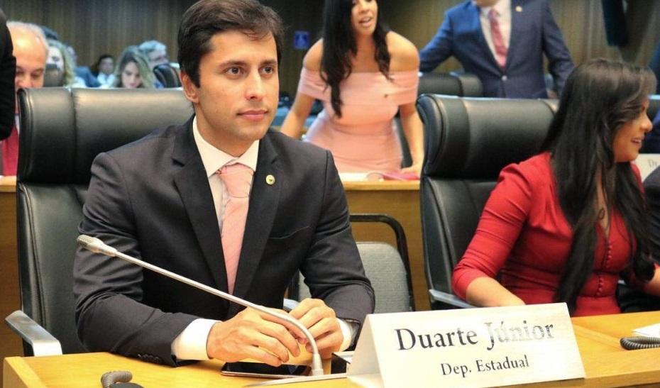 Logo em seu primeiro mandato como deputado estadual, Duarte Jr. ocupa o primeiro lugar do ranking com 214 proposições, maior número até agora.
