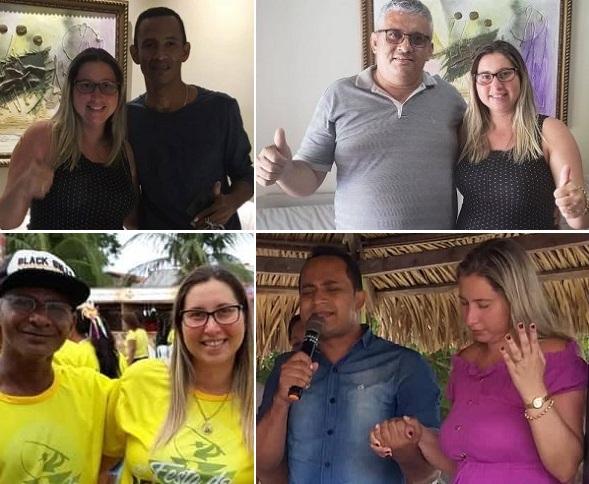 Afonso, Osmar, Aroldo e Messias; prefeita Talita ganhou quatro vices que não estiveram com ela na campanha municipal passada...
