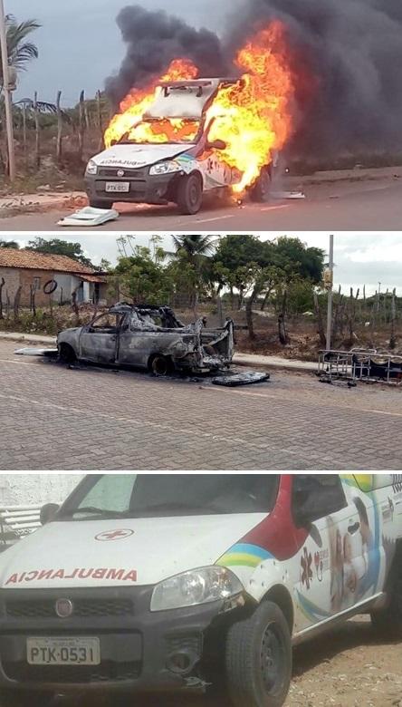 Ambulância incendia que atropelou e matou professora pertence a empresa investigada pelo Gaeco