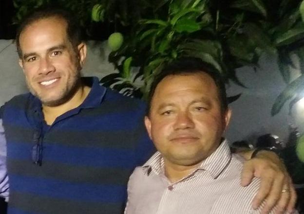 Nilson do Cassó e seu tutor, o o ex-prefeito Sergio Albuquerque...