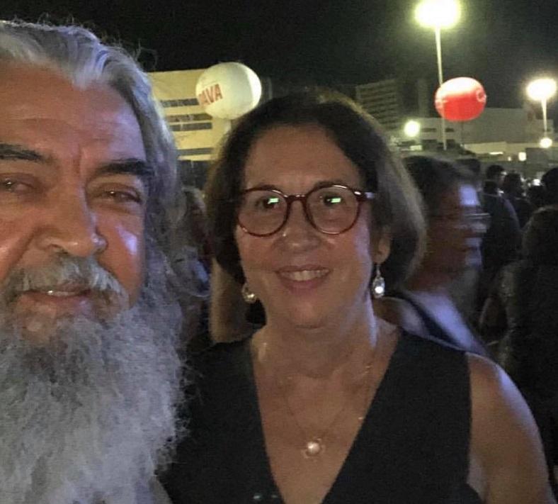Rita Palhano e seu esposo, Ruy...