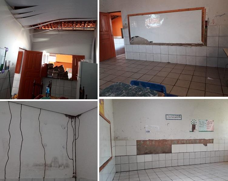 Situação da escola no Povoado Peba é de abandono total...