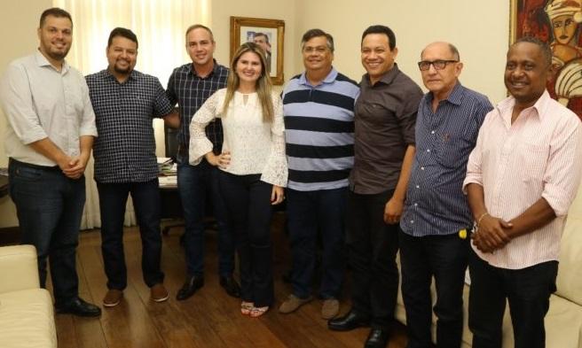 Governador Flávio Dino recebe os prefeitos de Bacuri, Porto Rico, Central e Cedral