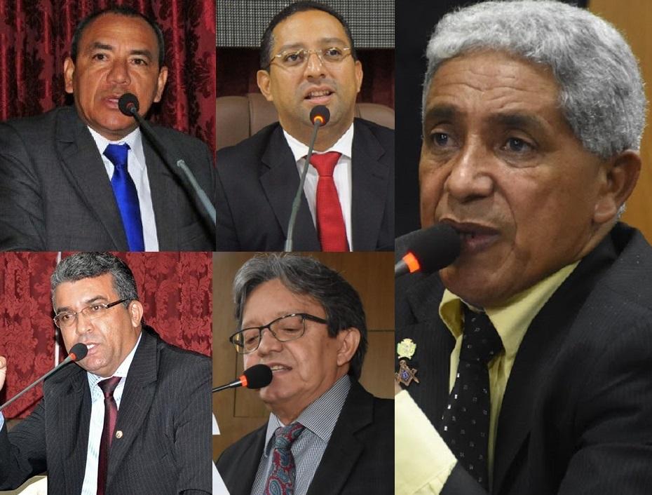 Genival Alves, Marcial Lima, Ricardo Diniz, Silvino Abreu e Dr. Gutemberg.