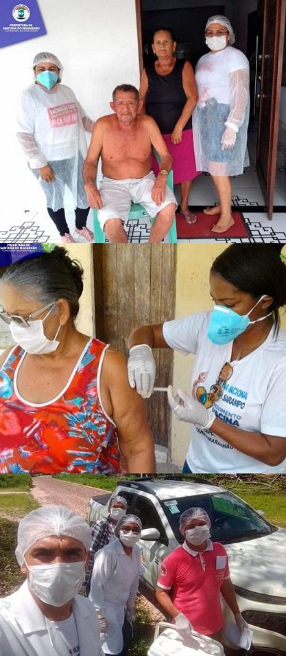 Prefeitura de Santana realiza vacinação em domicílio de idosos...