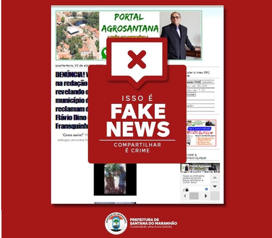 Notícia falso publicada por blog apócrifo…