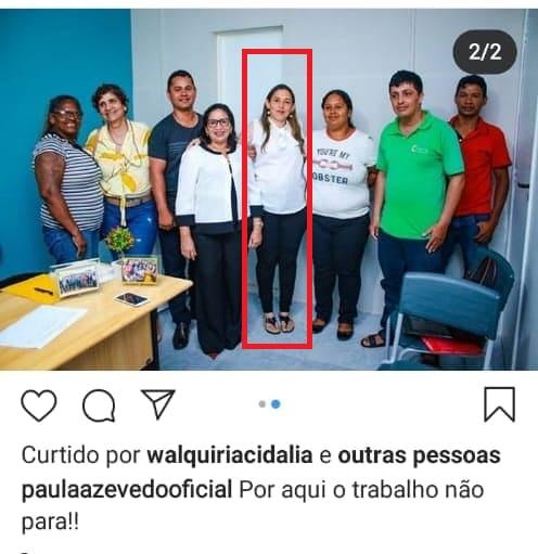 Professora Ana Melo em audiência com a prefeita de Paço do Lumiar, do PCdoB...