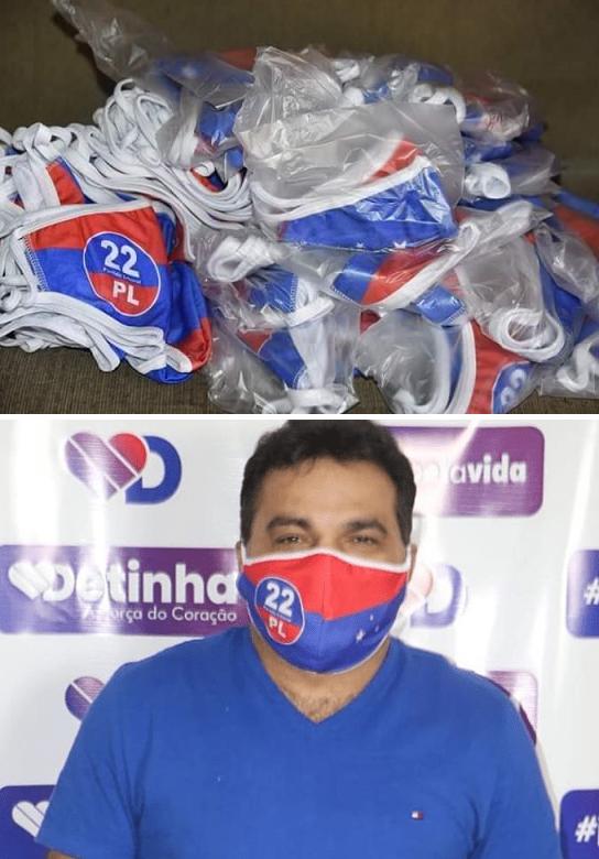 Imagens das máscaras circulam nas redes sociais, Josimar aparece usando uma…