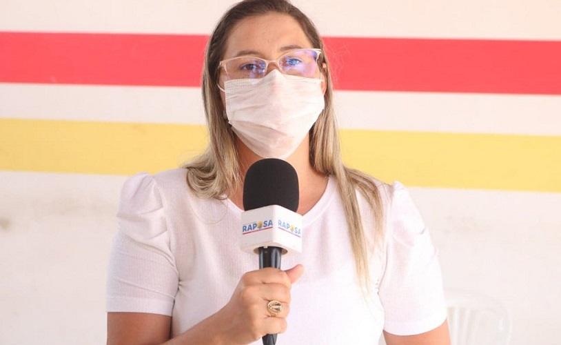 Prefeita Talita Laci segue na linha de frente em ações contra o covid-19...