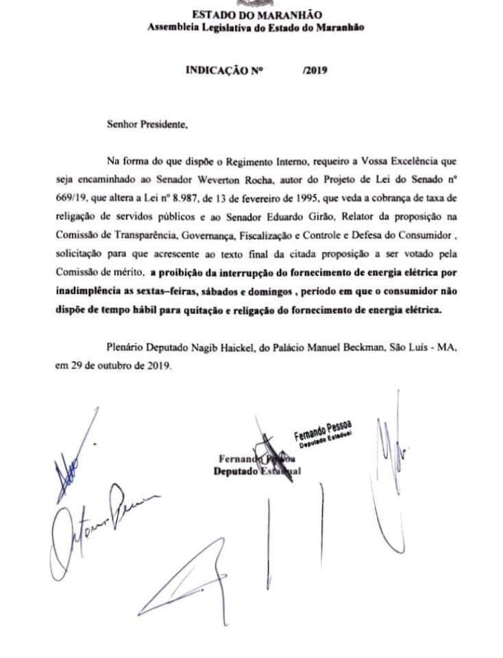 Dep. Fernando Pessoa liderou a reprovação da Lei de Duarte e aproveitou a proposta para encaminhá-la ao senador Weverton...