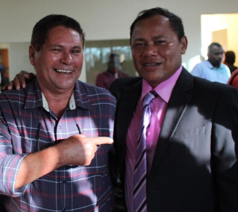 Líder político ex-prefeito José Laci e o vereador Beka.