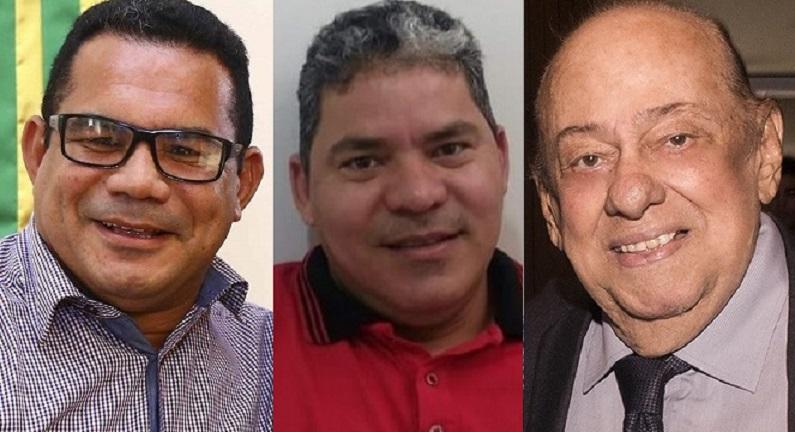 Alberto Rocha, Neuton Simão e Zé Gentil, prefeito, vereador e deputado estadual, respectivamente, todos vítimas do covid-19...