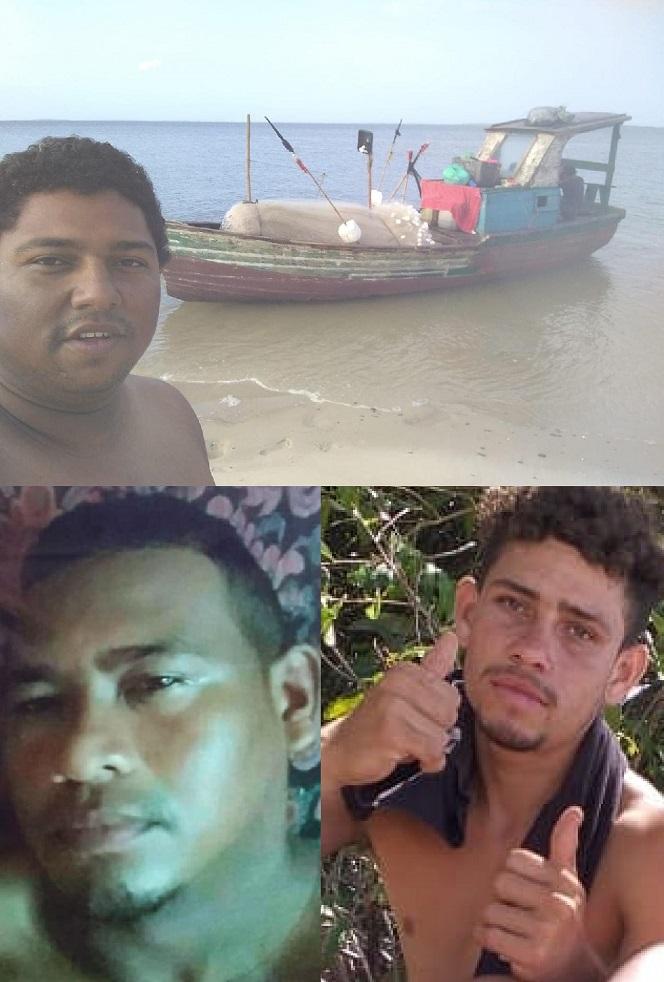 Francisco José Pereira de Araújo, 21 anos, conhecido como Gugu Maranhão; André Veras Silva, 38 anos eLucas dos Santos Santos, 19 anos, todos moradores de Raposa, estão desaparecidos...