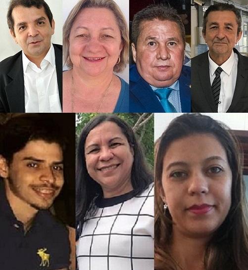 Dipromed é uma empresa da família Gonçalo; pela ordem das foto: Hilton Gonçalo, Geires Gonçalo, Dep. Ariston, Dep. Elizabeth Gonçalo, Glauber Gonçalo, Iriane Gonçalo e Fernanda Gonçalo.