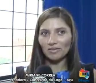 Presidente da Câmara, Miriane Santos Correia,