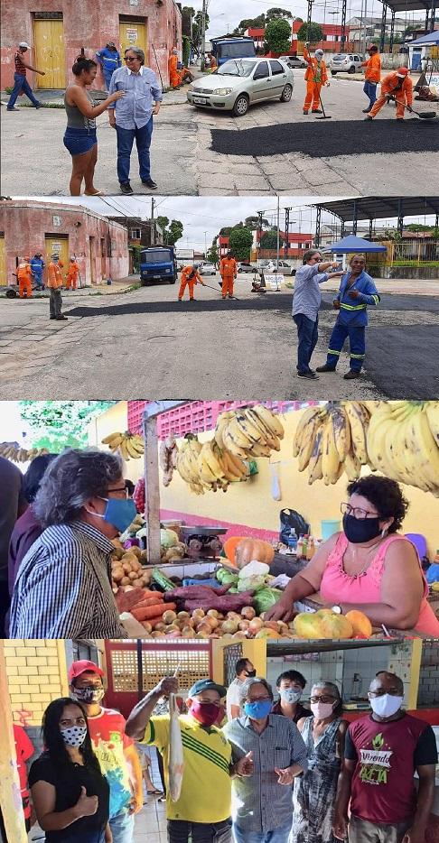 Vereador de Braide usa asfalto do prefeito Edivaldo e reforma de feira para se promover...