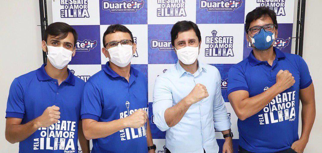 Enos Ferreira e seu grupo declararam apoio à candidatura de Duarte Júnior, o que fortalece seu nome na base do governo e na Assembleia de Deus