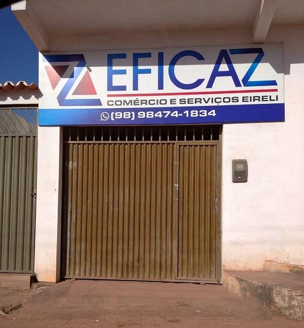 """""""Sede"""" da empresa Eficaz, tudo de fachada na cidade de Mirinzal..."""