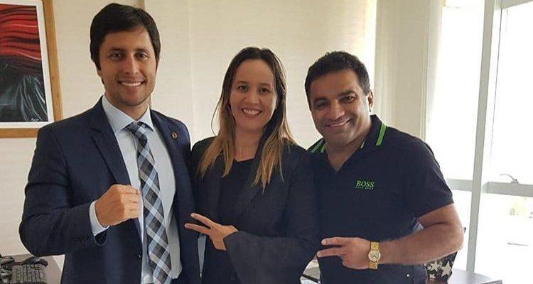 Duarte Júnior durante encontro do Detinha e Josimar, em janeiro de 2019..