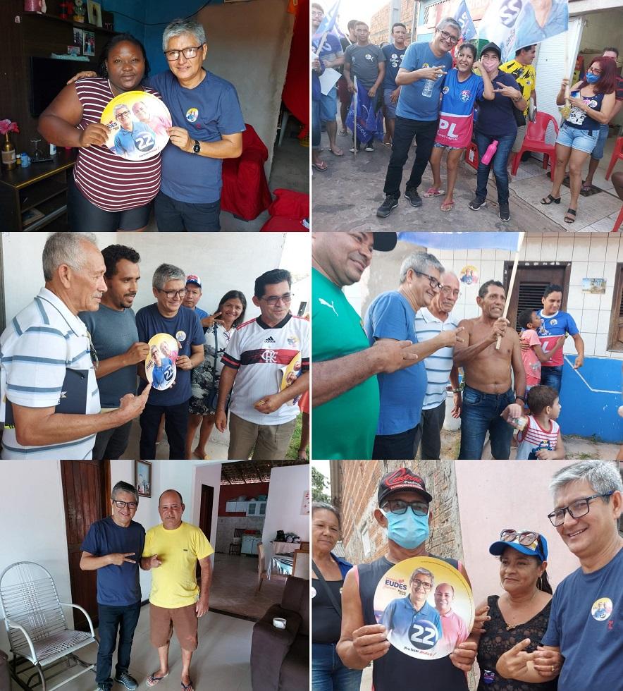 Eudes Barros recebe apoio popular na Rua da Gloria e Rua do Campos...