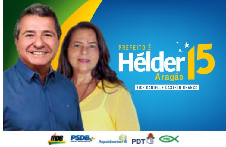Helder tem como vice Danielle Castelo Branco...