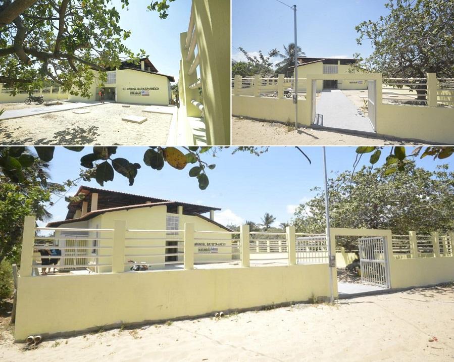 Escola construída na Ilha de Sarney...