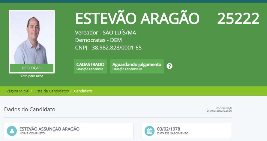 Estevão apresentou registro de candidatura e agora teve o pedido impugnado...