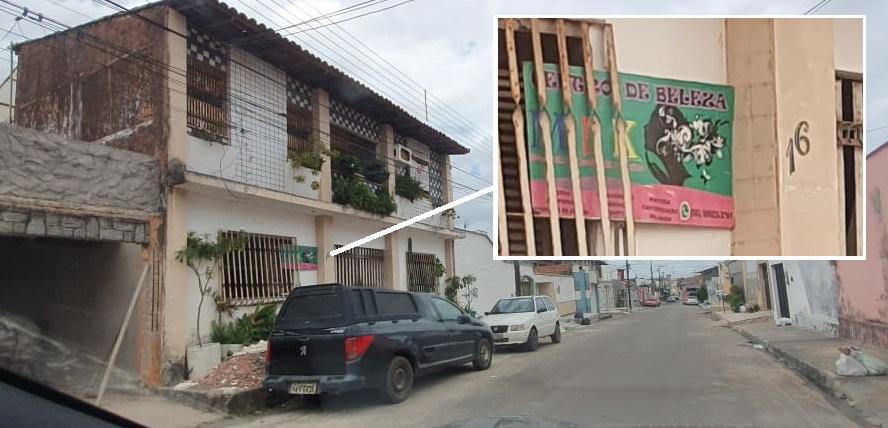 Em vez da empresa E.M Produções Eireli, que fez pesquisa eleitoral em Raposa, no endereço funciona um salão de beleza...