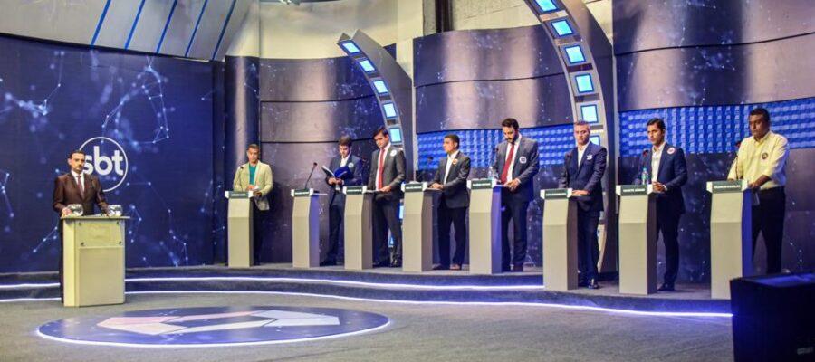 Imagem do último debate na TV Difusora, em São Luís...
