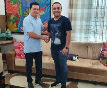 Gilsásio Brito e o prefeito eleito Rigo Teles...