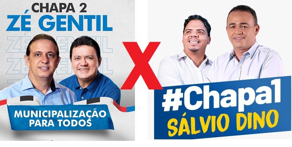 Santinho digitais das duas chapas que circulam pela internet...