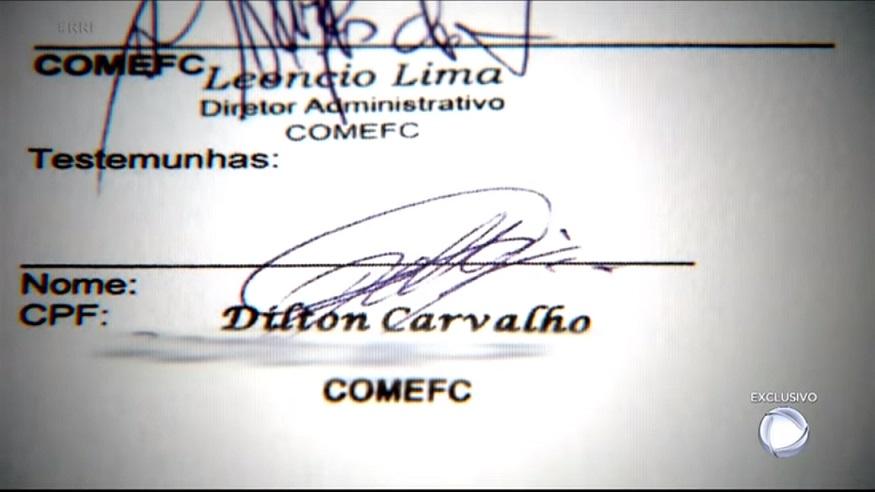 Digitais de Dilton estão nos contratos do Consórcio...