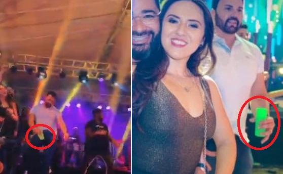 """Inácio requebra até embaixo com seu devido """"copinho"""" na mão, durante o show da Chicabana..."""
