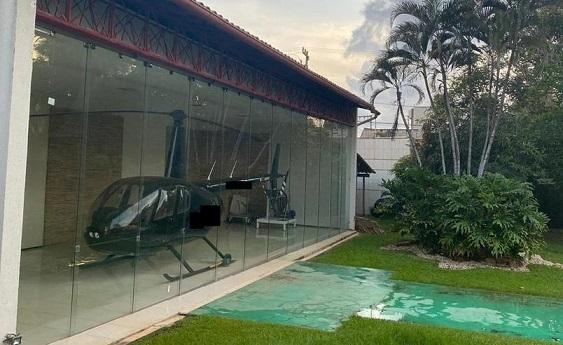 Idem de decoração da mansão de Edinho Lobão, imagem do helicóptero apreendido durante operação da Lava Jato no Maranhão viralizou em todo o país...
